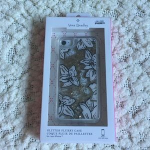 NWT Vera Bradley Glitter iPhone Case 8 or 7